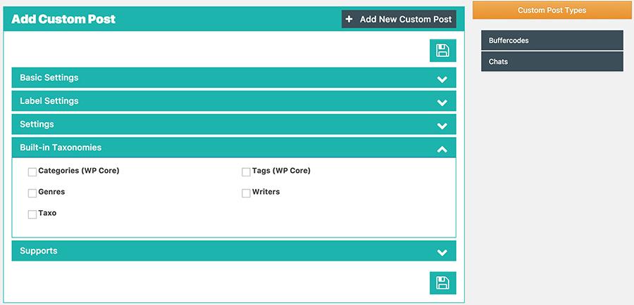 Custom Post Taxonomy