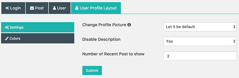 Custom User Profiles