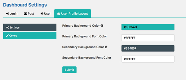 Customise Layout Colors